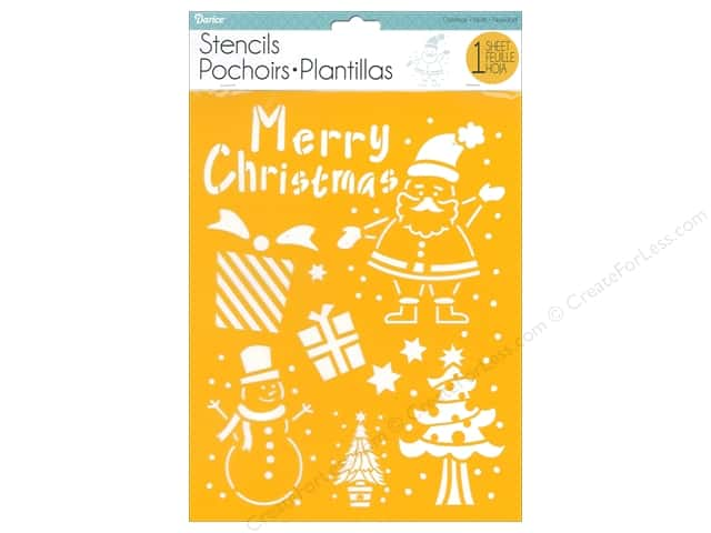 Darice Craft Stencil 8 1/2 x 11 in. Christmas