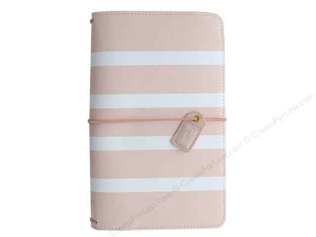 Webster's Pages Color Crush Planner Traveler Blush Stripe Book Wrap