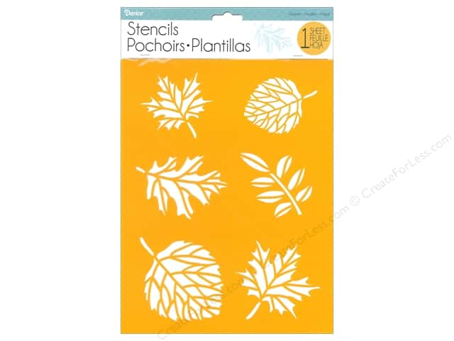 "Darice Stencil 8.5 in. x 11"" in. Leaves"