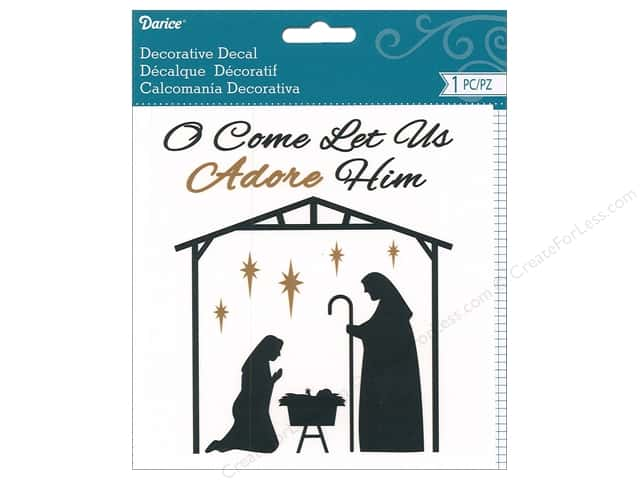 Darice Decal Manger Scene Black/Gold