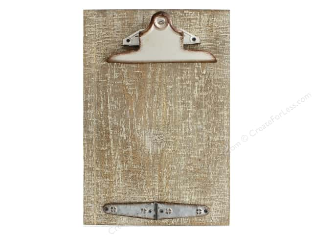 Sierra Pacific Crafts Wood Wall Art Clipboard With Hinge 12 in. Distressed White