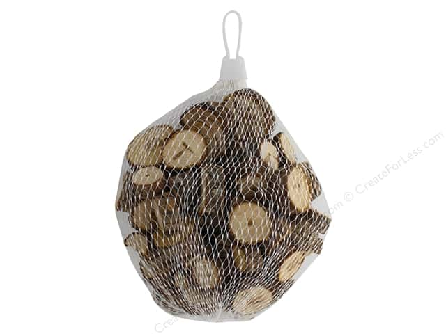 Sierra Pacific Crafts Wood Disk With Bark Bag 250 gm Natural