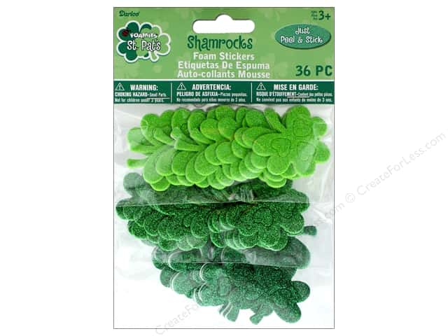 Darice Foamies St Patrick Sticker Shamrocks 36 pc