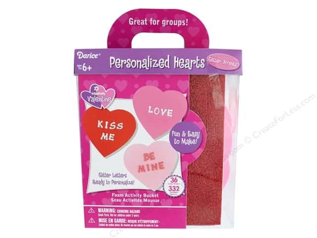 Darice Foamies Activity Kit Big Hearts 368pc