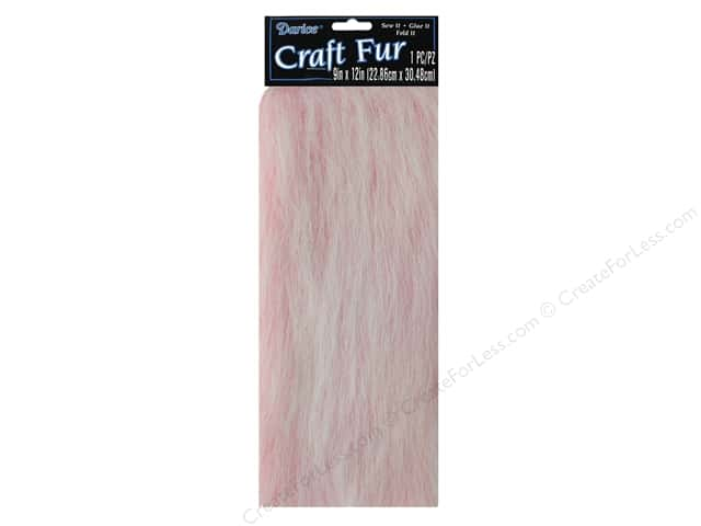 "Darice Craft Fur 9""x 12"" Long Pile Pink"