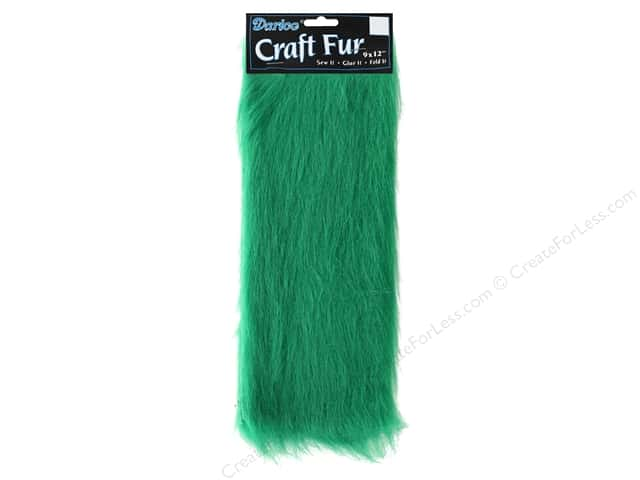 "Darice Craft Fur 9""x 12"" Long Pile Kelly"