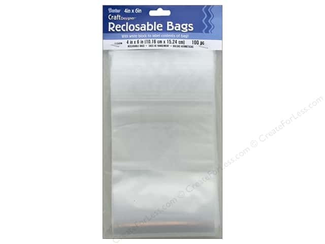 Darice Craft Designer Reclosable Storage Bags 4 x 6 in. 100 pc.