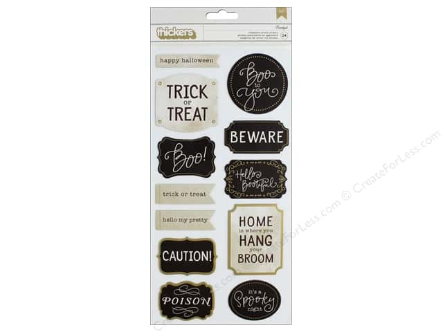 Pebbles Collection Midnight Haunting Thickers Sticker Chip Phrase