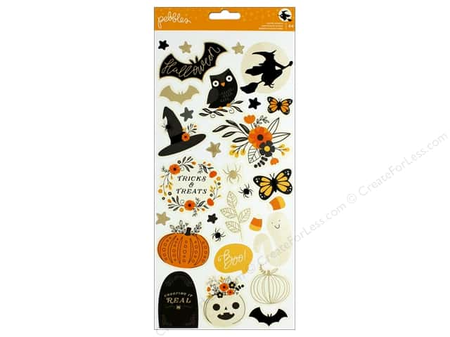 Pebbles Collection Midnight Haunting Sticker Gold Foil