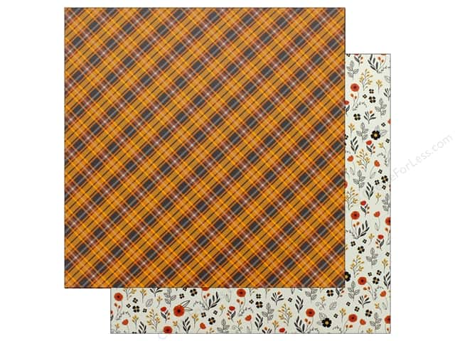 "Pebbles Collection Midnight Haunting Paper 12""x 12"" Autumn Plaid (25 pieces)"