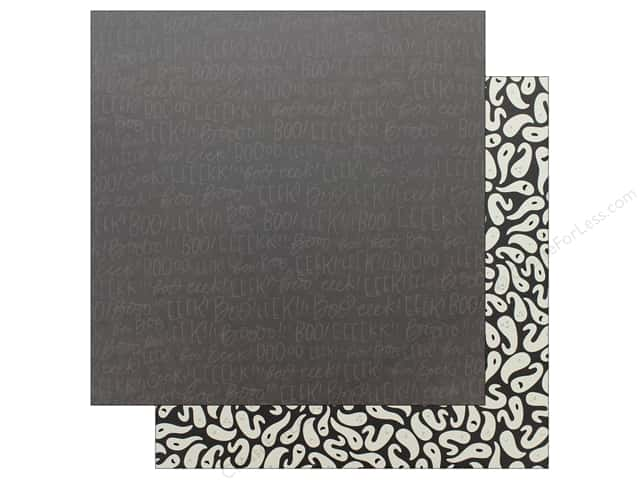 "Pebbles Collection Midnight Haunting Paper 12""x 12"" EEK (25 pieces)"
