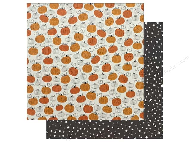 """Pebbles Collection Midnight Haunting Paper 12""""x 12"""" Pumpkin Patch (25 pieces)"""