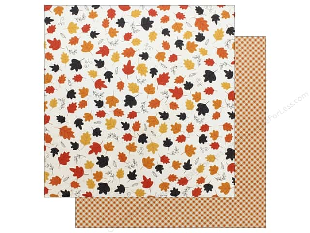 "Pebbles Collection Midnight Haunting Paper 12""x 12"" Whirling Leaves (25 pieces)"