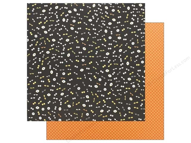 "Pebbles Collection Midnight Haunting Paper 12""x 12"" Eyes On You (25 pieces)"