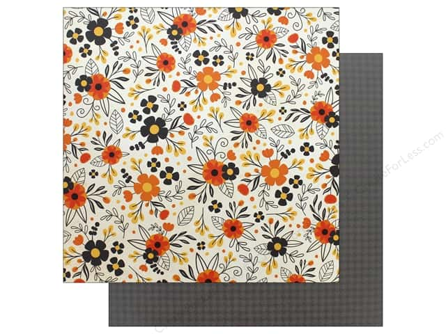 """Pebbles Collection Midnight Haunting Paper 12""""x 12"""" Hauntingly Beautiful (25 pieces)"""
