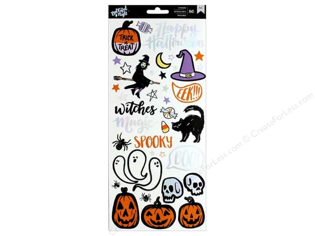 """American Crafts Collection BOOtiful Night Sticker 6""""x 12"""" (3 sets)"""
