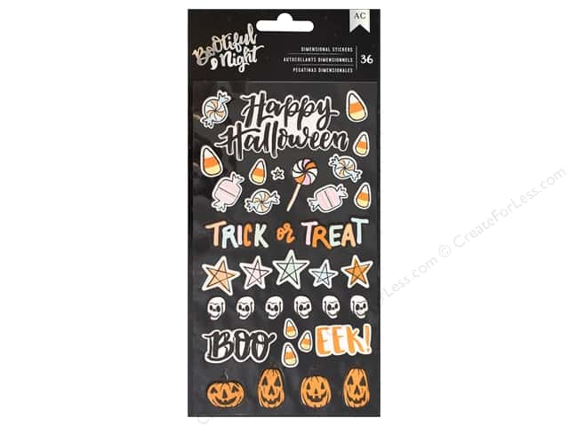 American Crafts Collection BOOtiful Night Sticker Puffy (3 sets)