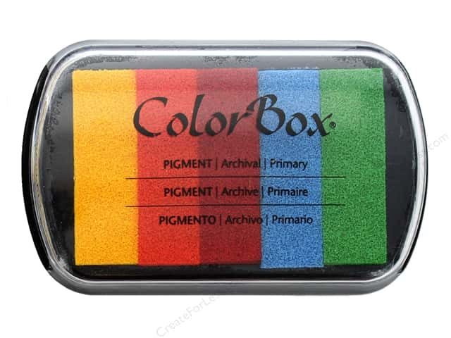 ColorBox Pigment Inkpad 5 Color Primary