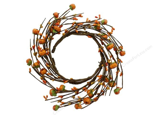 Darice Decor Fall Candle Ring Pumpkin 4.5 inches