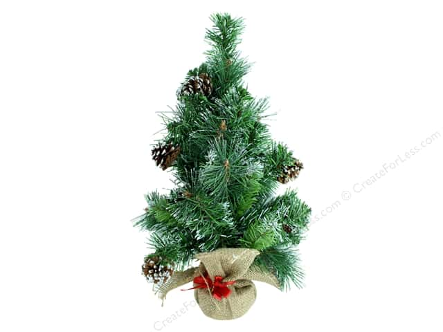 Darice Decor Christmas Tree Mini With Burlap Base