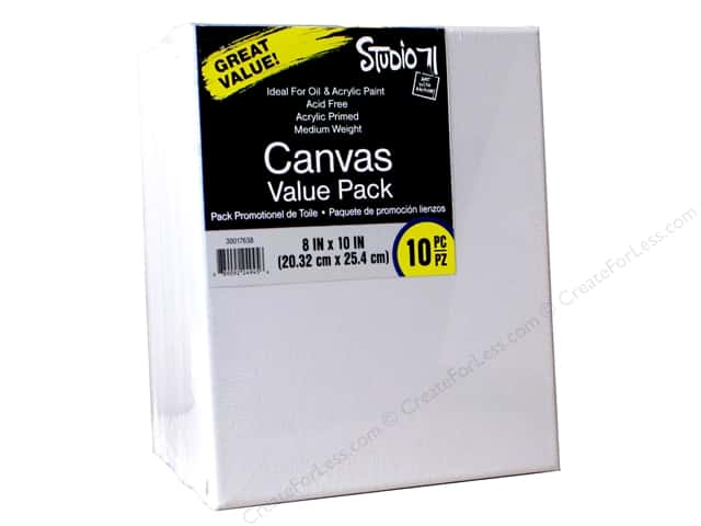 "Darice Studio 71 Traditional Canvas 8""x 10"" Value Pack 10pc"