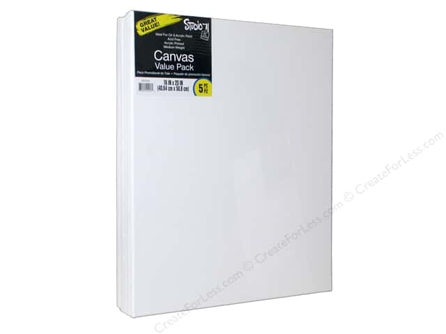 Darice Studio 71 Traditional Canvas 16 in. x 20 in. Value Pack 5 pc