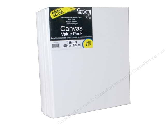 "Darice Studio 71 Traditional Canvas 11""x 14"" Value Pack 7pc"