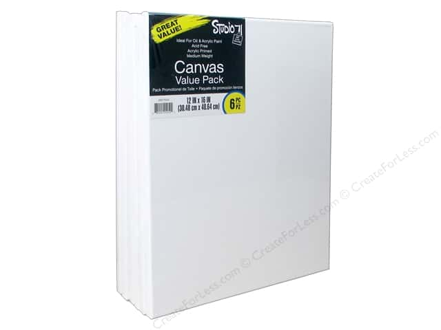 Darice Studio 71 Traditional Canvas 12 in. x 16 in. Value Pack 6 pc