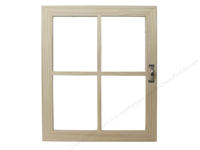 Darice Wood Window 4 Pane with Handle Unfinished 18 in. x 22 in.