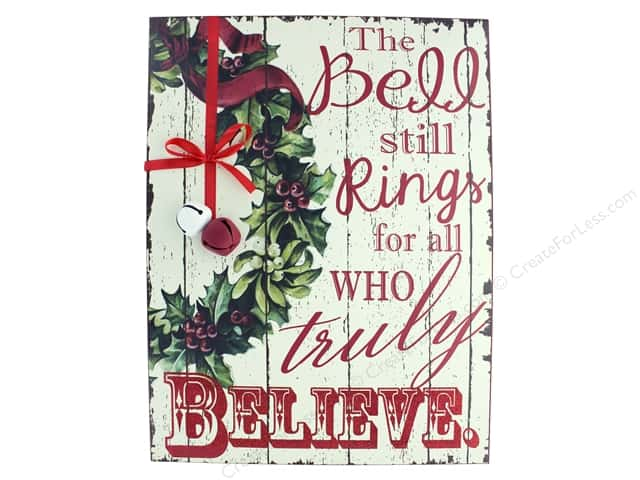 "Darice Decor Wall Sign 11.75"" Truly Believe"
