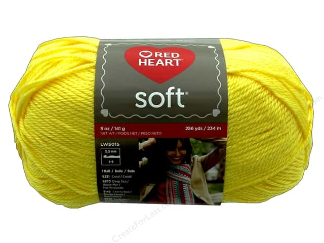 Red Heart Soft Yarn 256 yd. #4616 Lemon