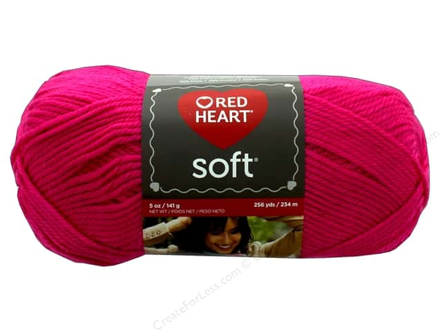 Red Heart Soft Yarn 256 yd. #9273 Very Pink