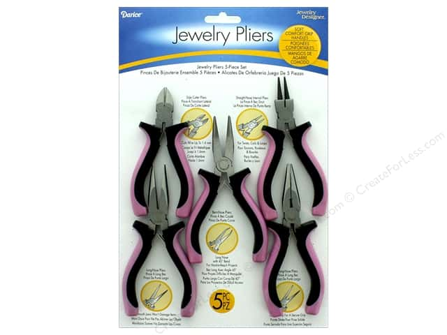 Darice Jewelry Designer Tools & Jewelry Plier Set 5 pc