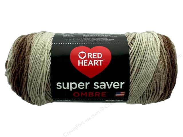 Red Heart Super Saver Ombre Yarn 482 yd. #3987 Ombre Cocoa