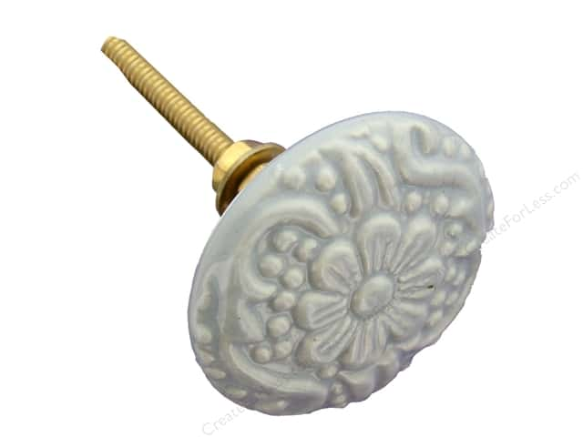 Darice Hardware Knob Ceramic Textured