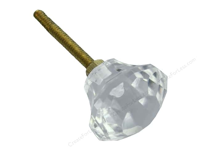 Darice Hardware Knob Glass Faceted Clear