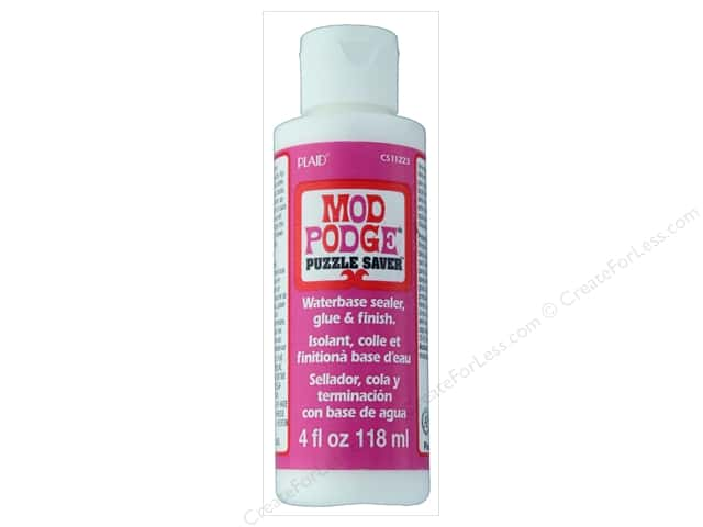 Plaid Mod Podge Puzzle Saver 4oz