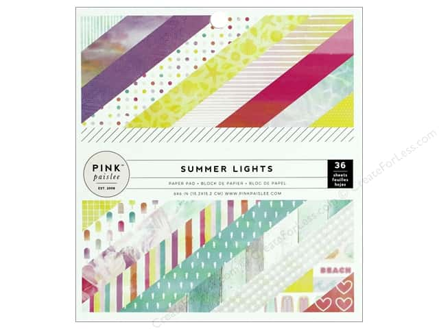 "Pink Paislee Collection Summer Lights Paper Pad 6""x 6"""