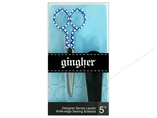Gingher 5 in. Designer Knife Edge Sewing Scissors - Lauren