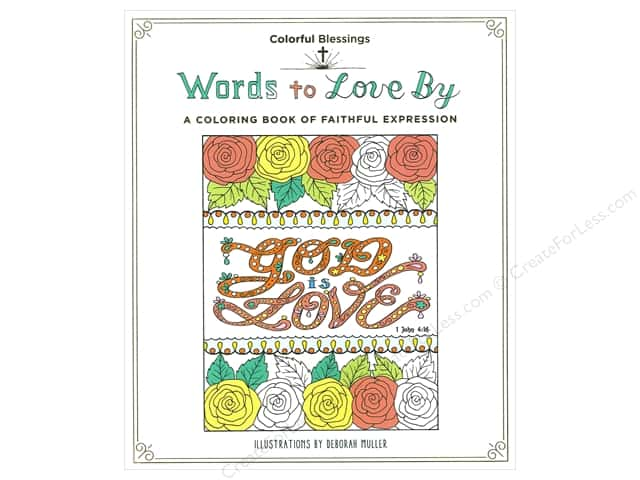 St Martin's Griffin Words to Love By Coloring Book