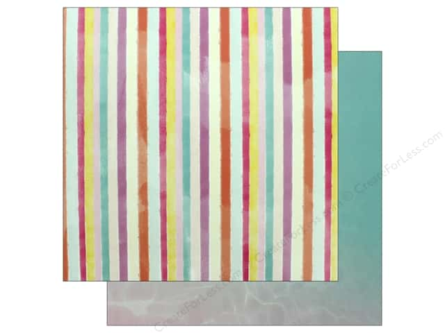 "Pink Paislee Collection Summer Lights Paper 12""x 12"" Paper 9 (25 pieces)"