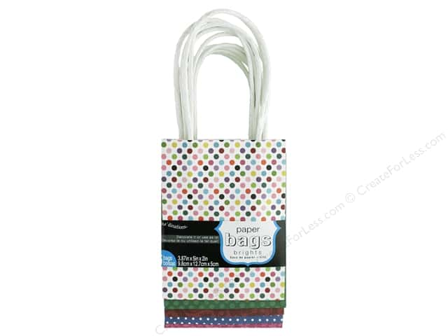 "Coredinations Paper Bags 3.87""x 5""x 2"" Brights 5pc"