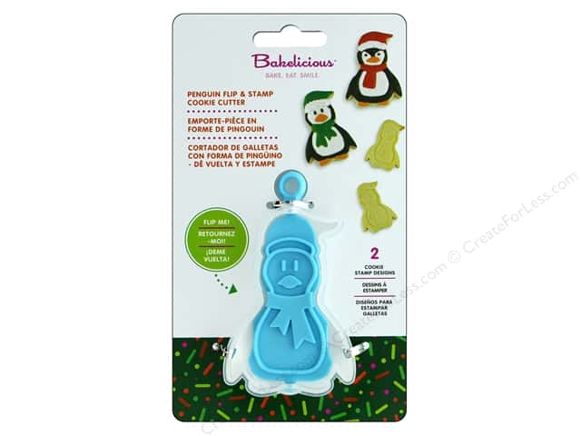 Fox Run Cookie Cutter Bakelicious Flip & Stamp Penguin