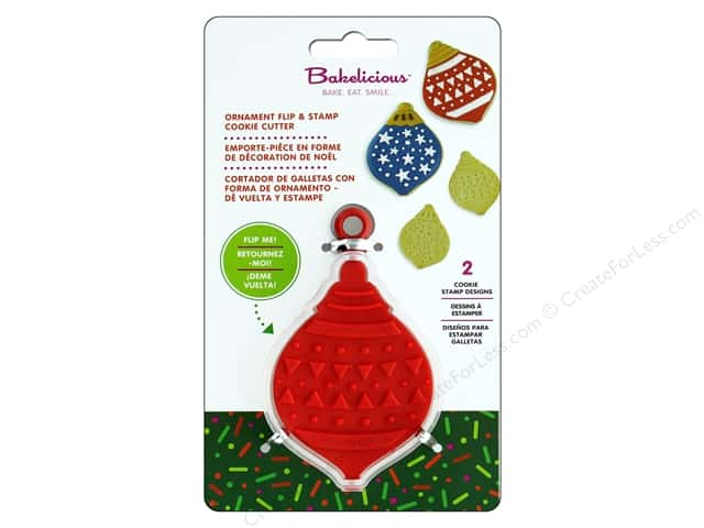 Fox Run Cookie Cutter Bakelicious Flip & Stamp Ornament