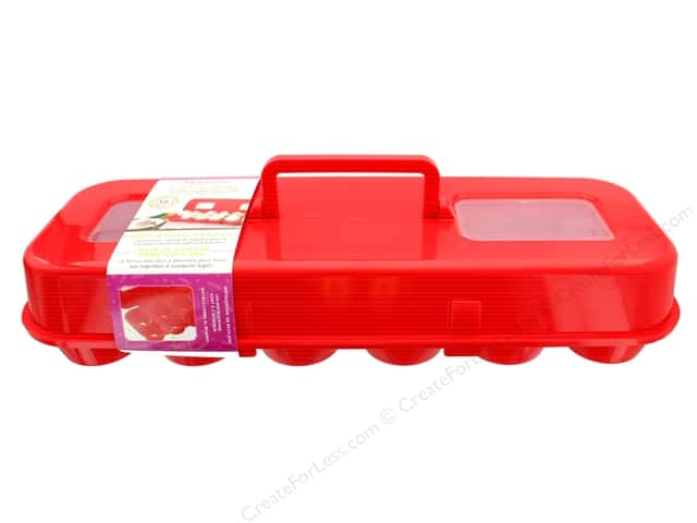 Fox Run Bakelicious Cupcake Carton Red