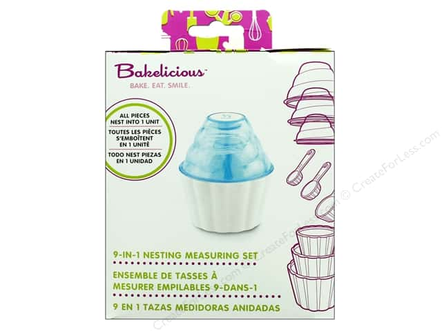 Fox Run Bakelicious Measuring Set Nest 9 in 1 Blue