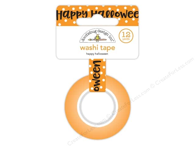 Doodlebug Booville Washi Tape Happy Halloween (6 yards)