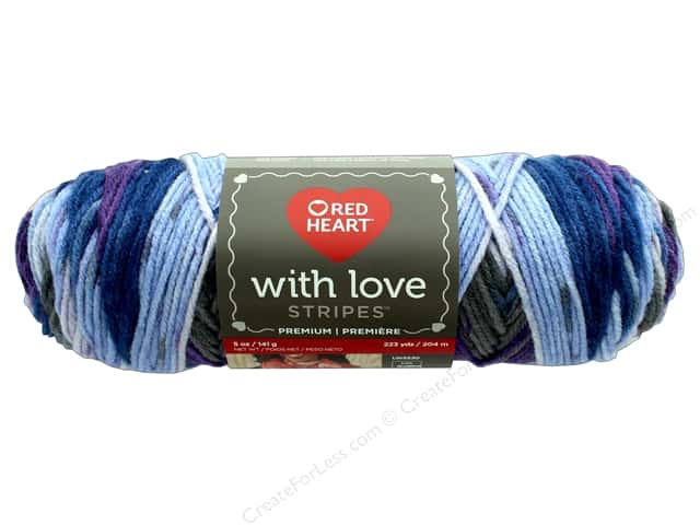 Red Heart With Love Yarn 223 yd. #1978 Baroque Stripe