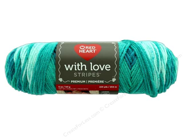 Red Heart With Love Yarn 223 yd. #1977 Fiji Stripe