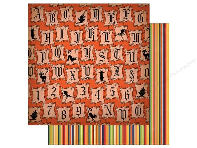 "Carta Bella Collection Haunted House Paper  12""x 12"" Halloween Letters (25 pieces)"